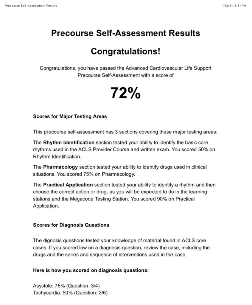 ACLS Assessment