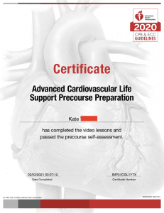 ACLS Renwal requirement